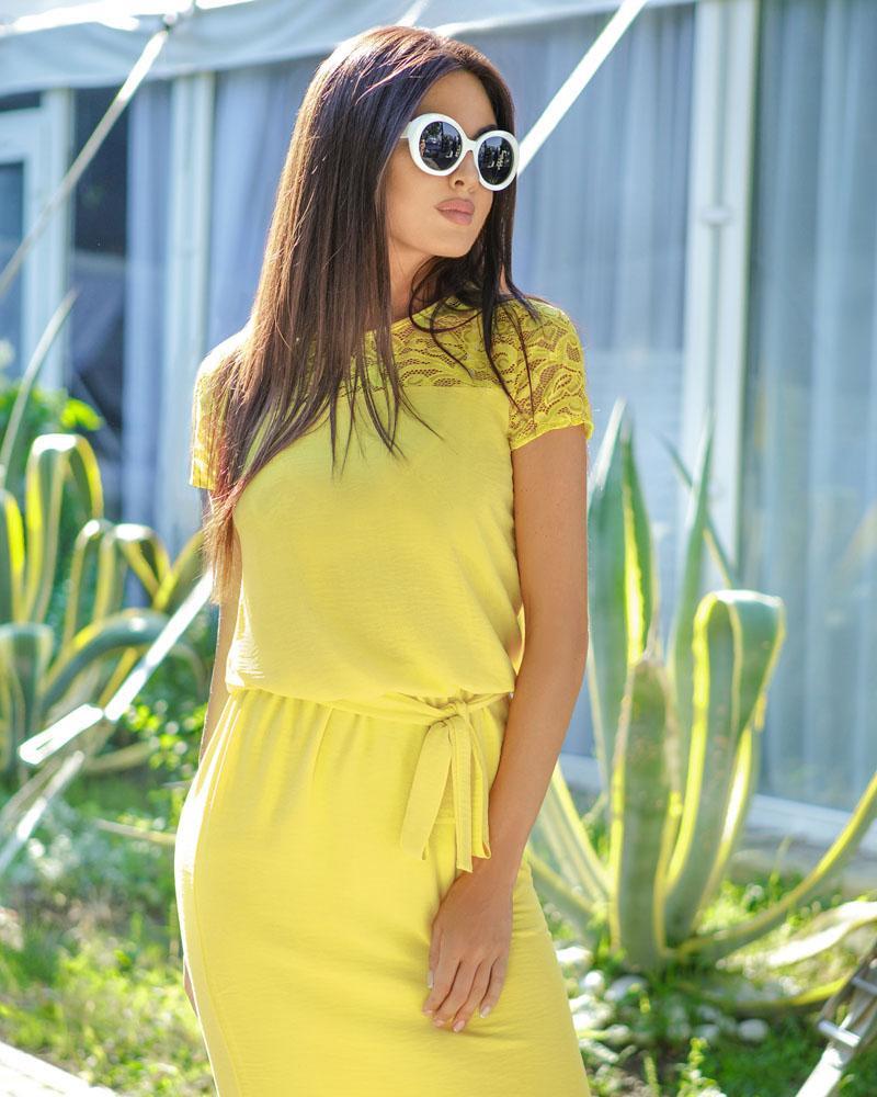 Солнечное летнее платье