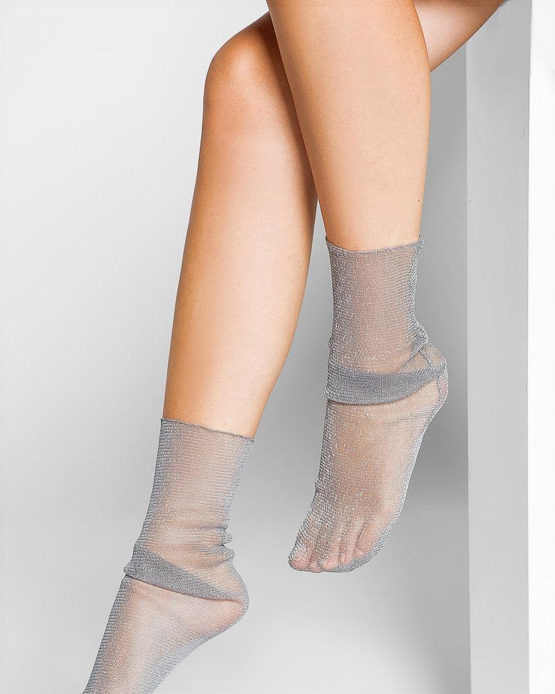 Носки с люрексом фото