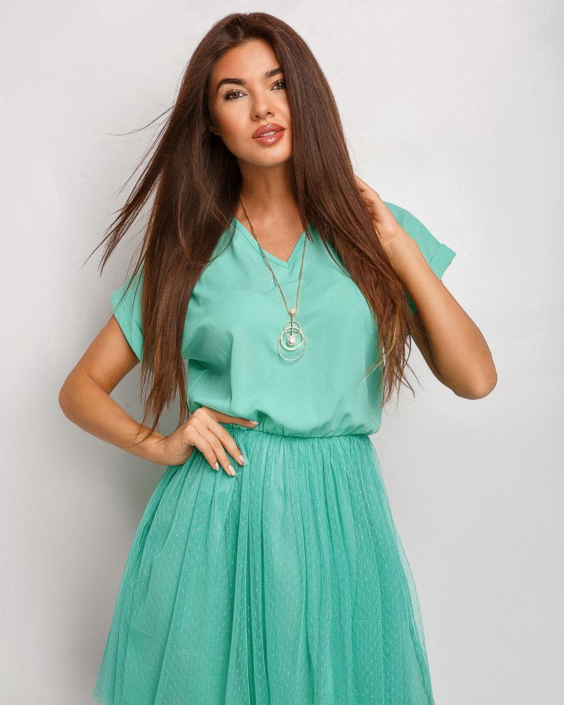 Шифоновое летнее платье фото