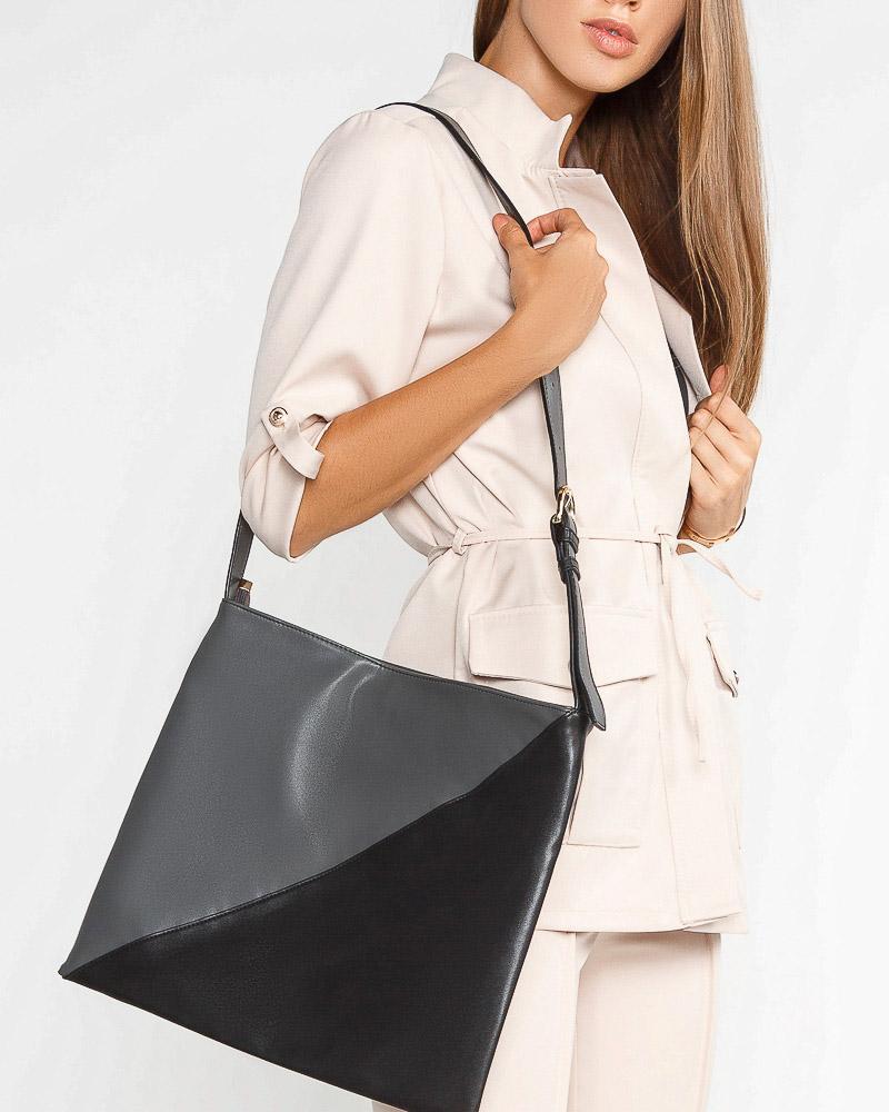 Двухцветная сумка на плечо фото