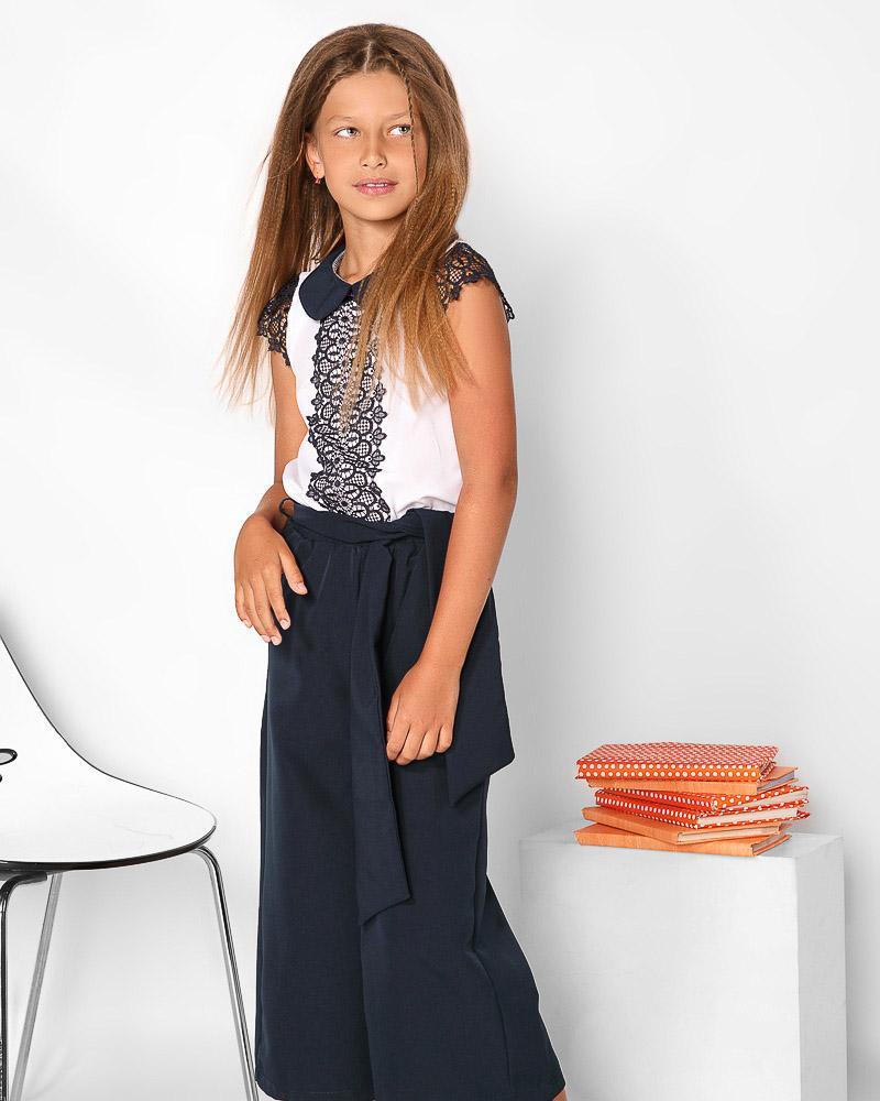 Школьные брюки-кюлоты фото