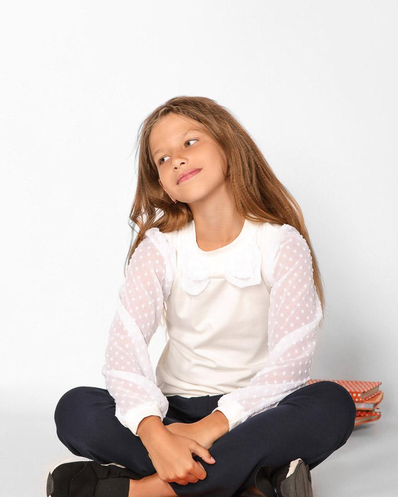 Школьная блуза-свитшот фото