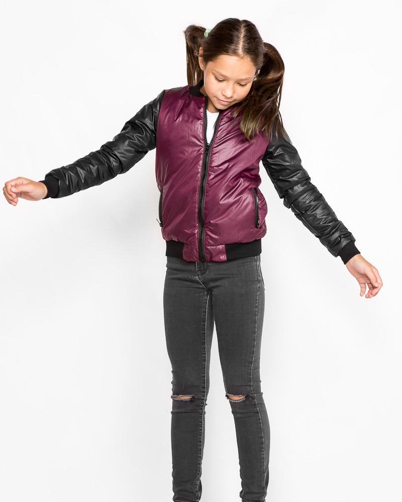 Детская куртка-бомбер фото