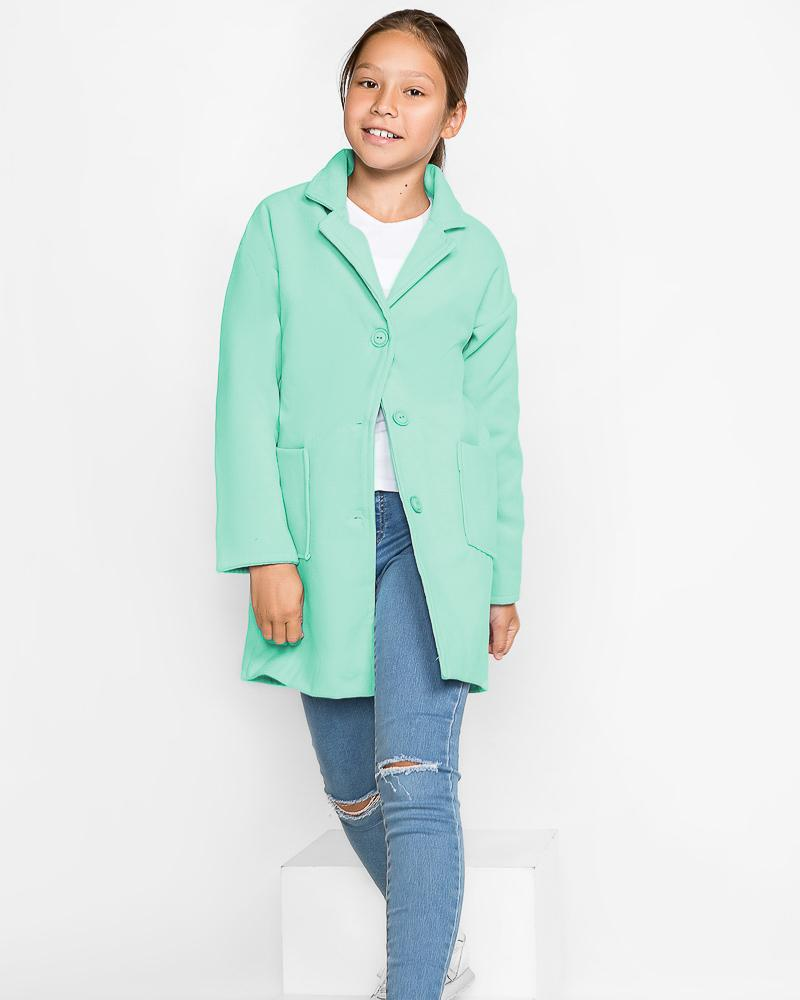 Лаконичное детское пальто фото