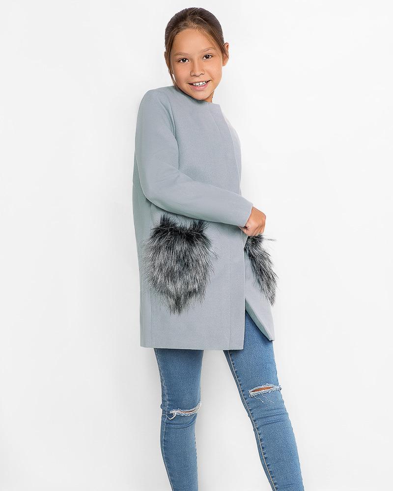 Пальто с декором фото