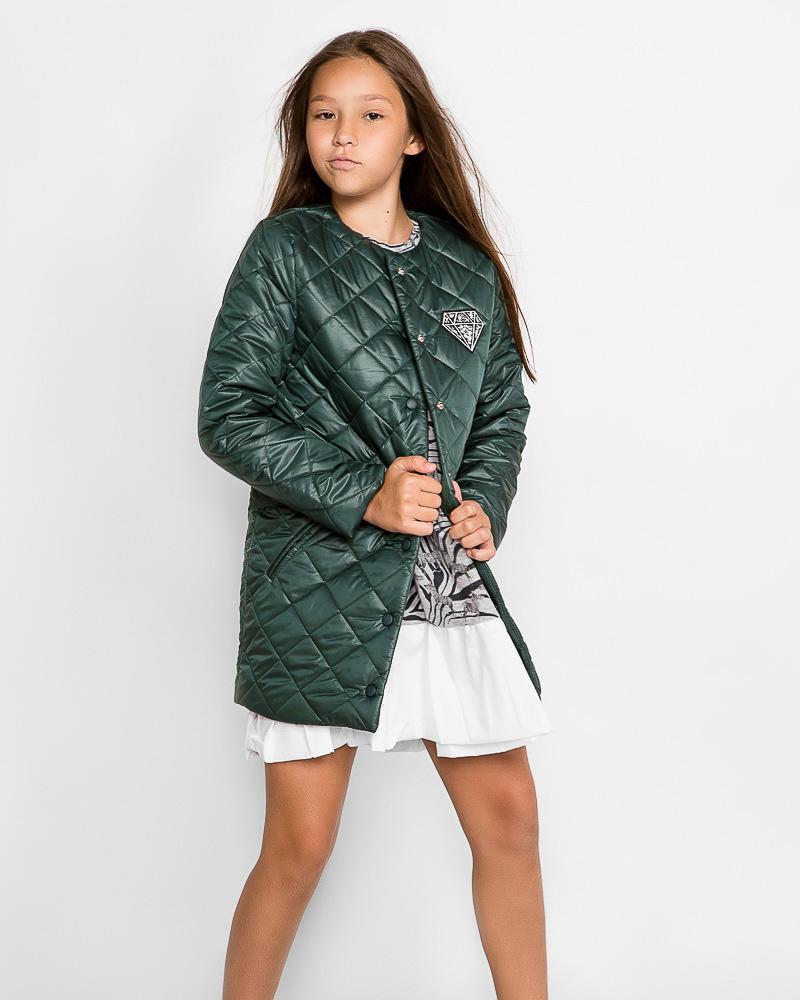 Модное стеганое пальто фото