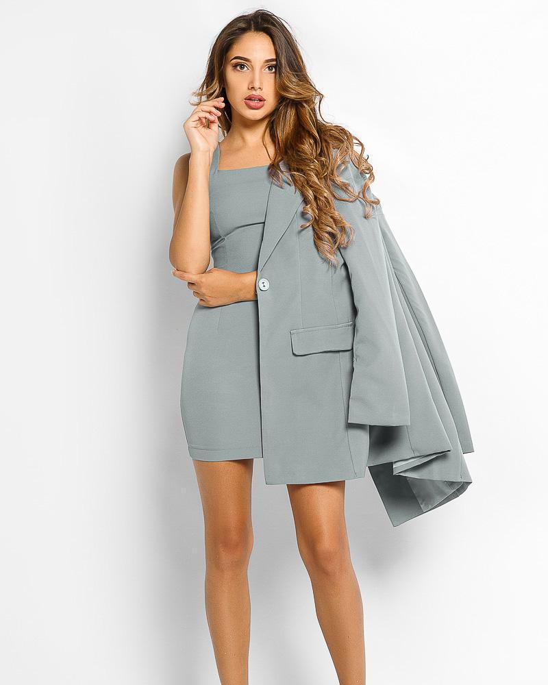 Деловой костюм с платьем