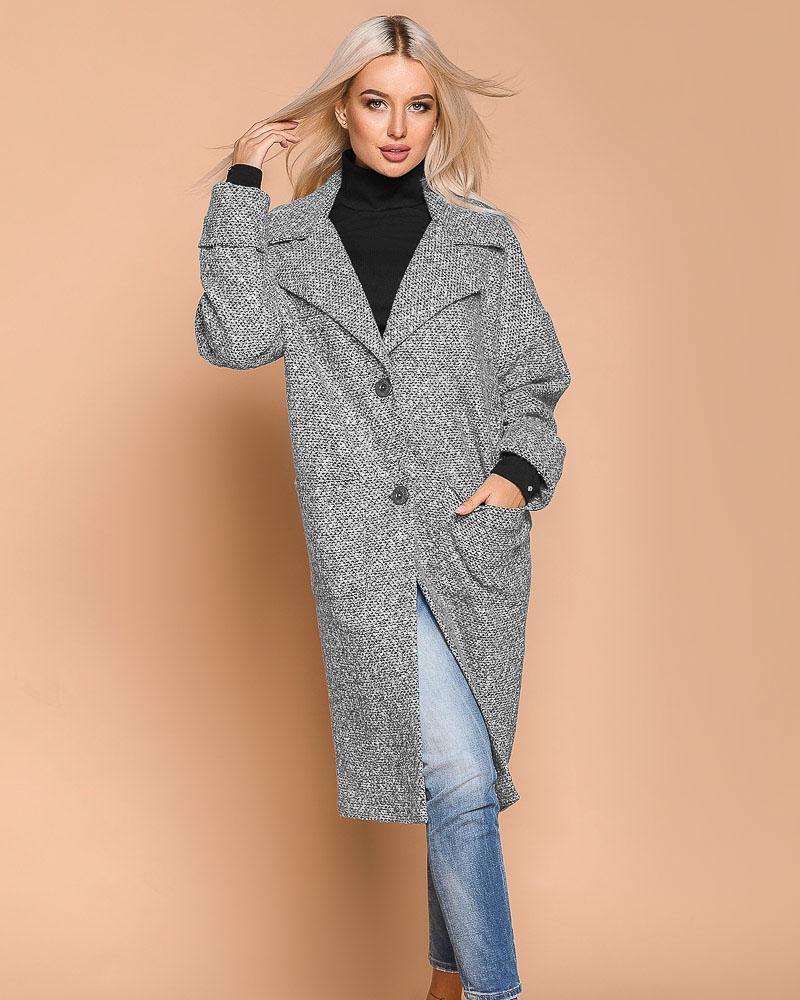 Демисезонное пальто-кокон