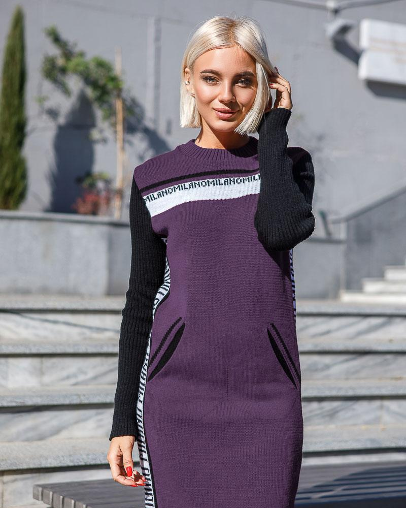 Теплое платье-туника фото