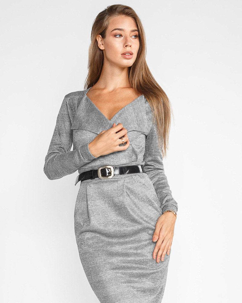 Купить Platya_platya-bolshih-razmerov, Облегающее трикотажное платье, Gepur