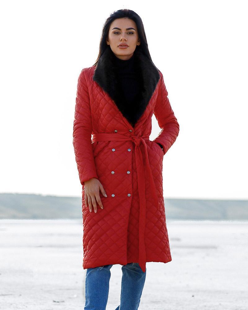 Пальто з хутром от Gepur