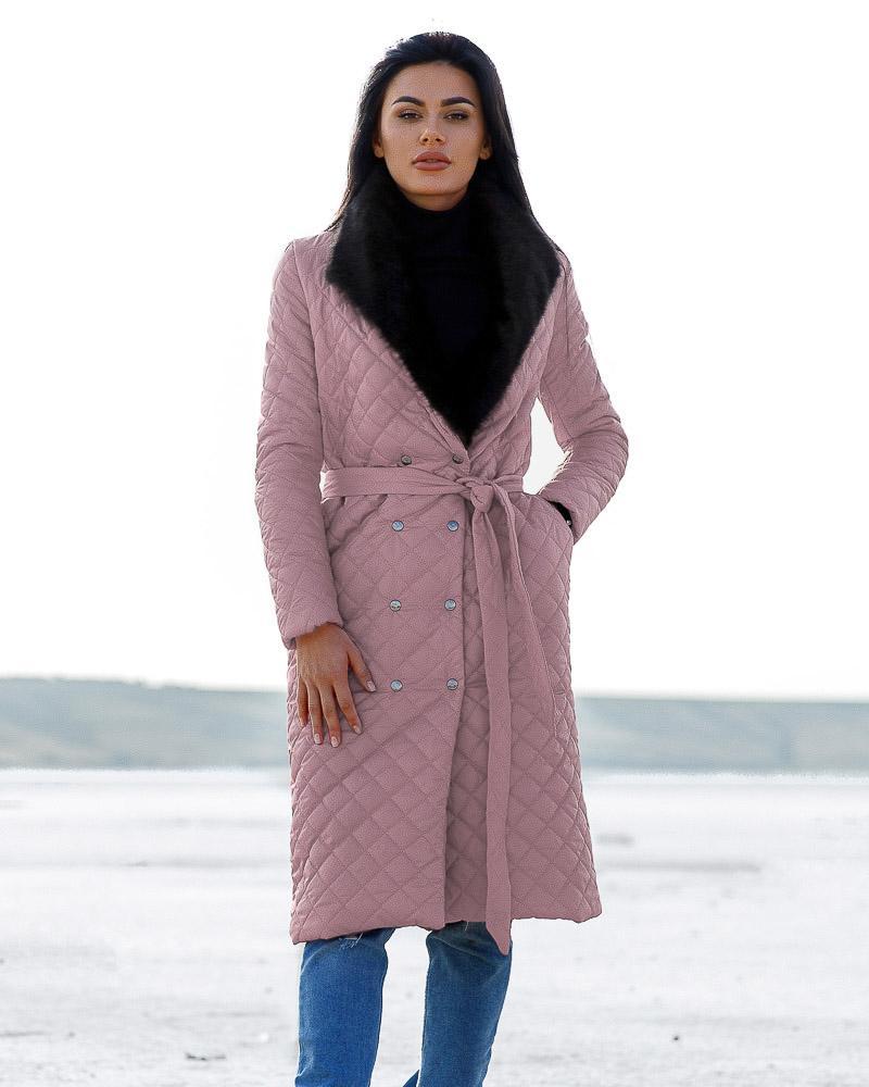 Купить Verhnyaya-odezhda_palto_palto-na-sintepone, Удлиненное стеганое пальто, Gepur