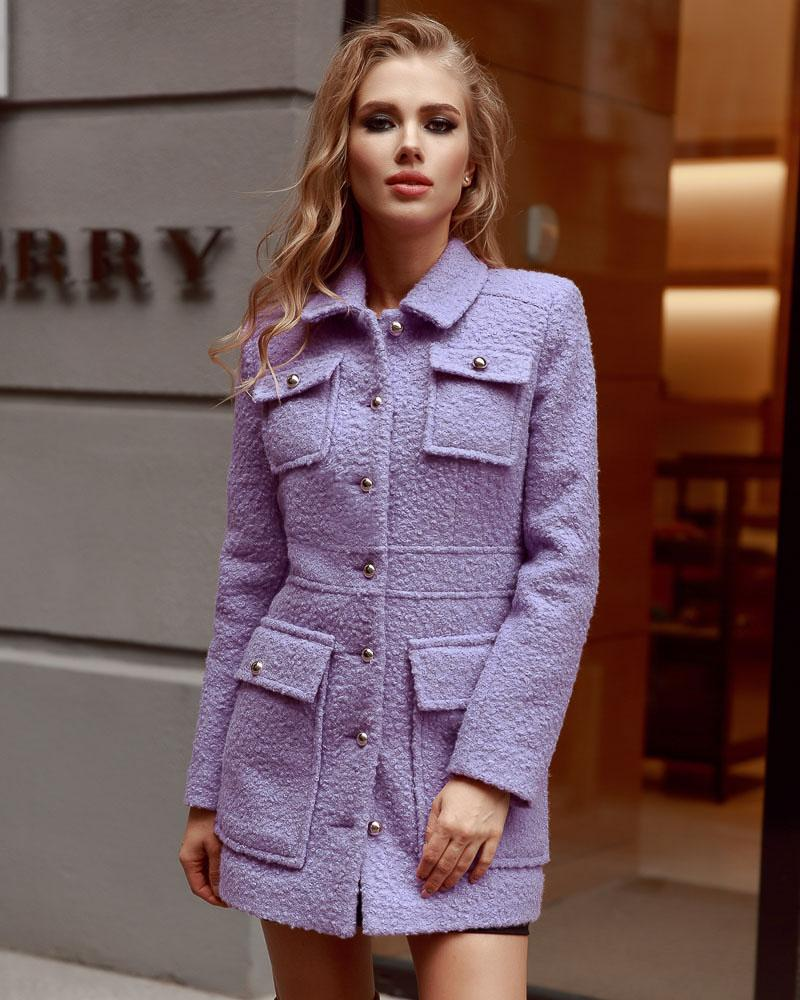 Фактурне пальто Gepur