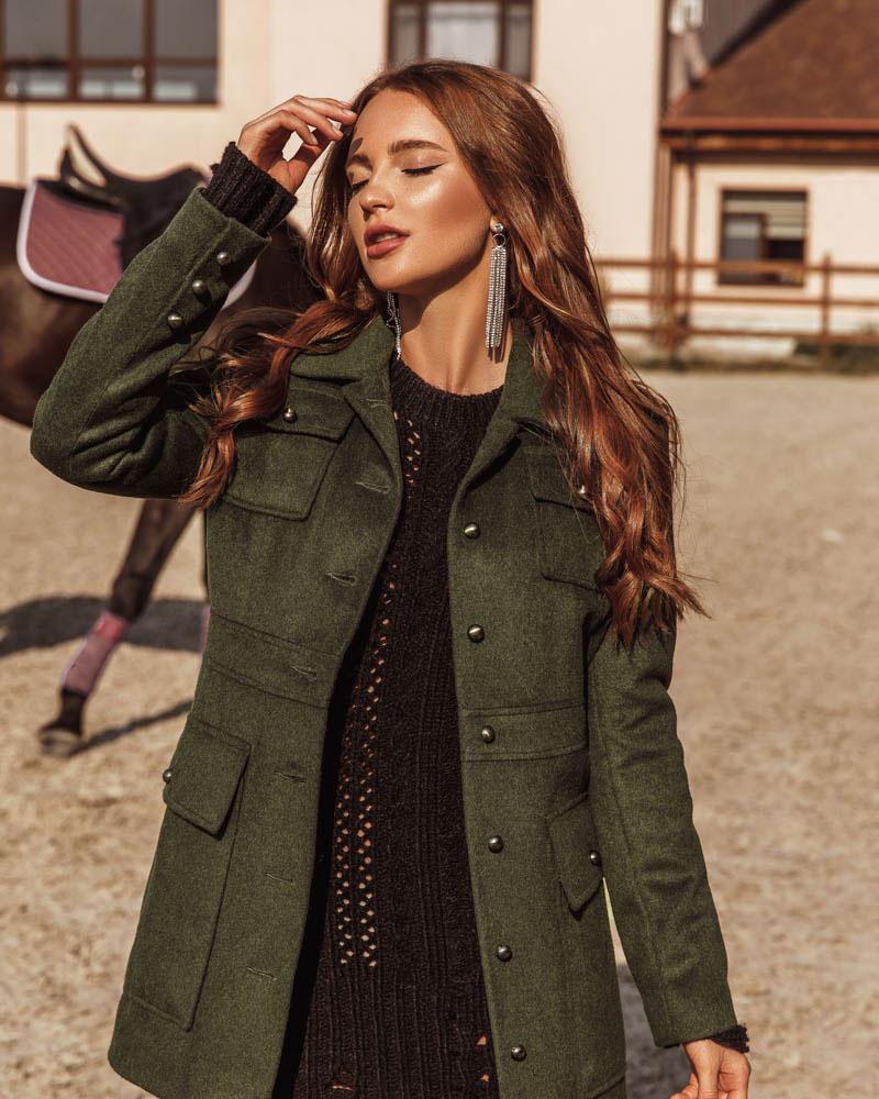 Оригінальне вовняне пальто от Gepur