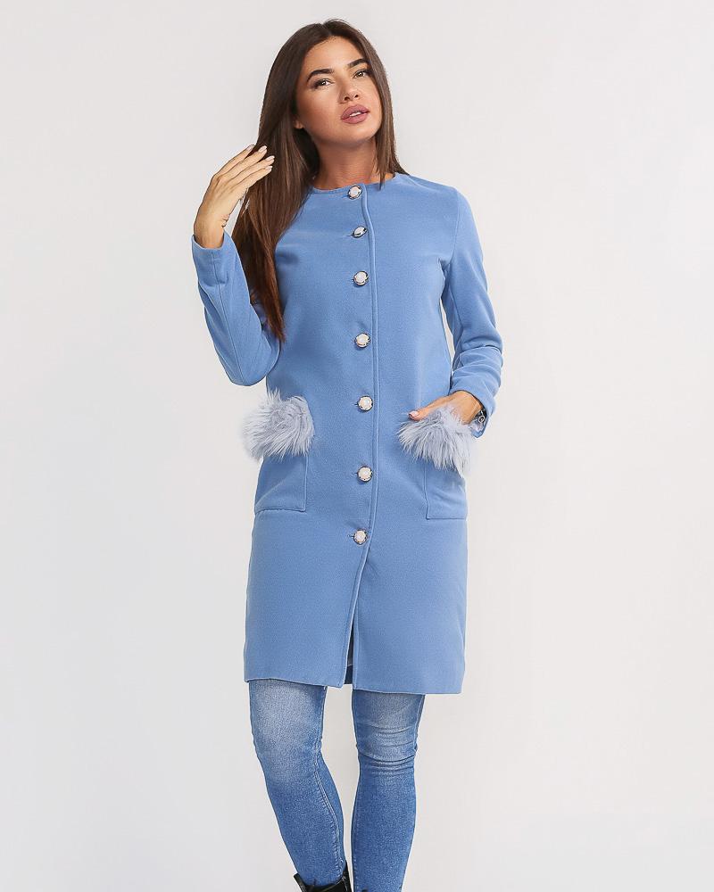 Купить Verhnyaya-odezhda_palto_kashemirovye-palto, Комфортное пальто с мехом, Gepur