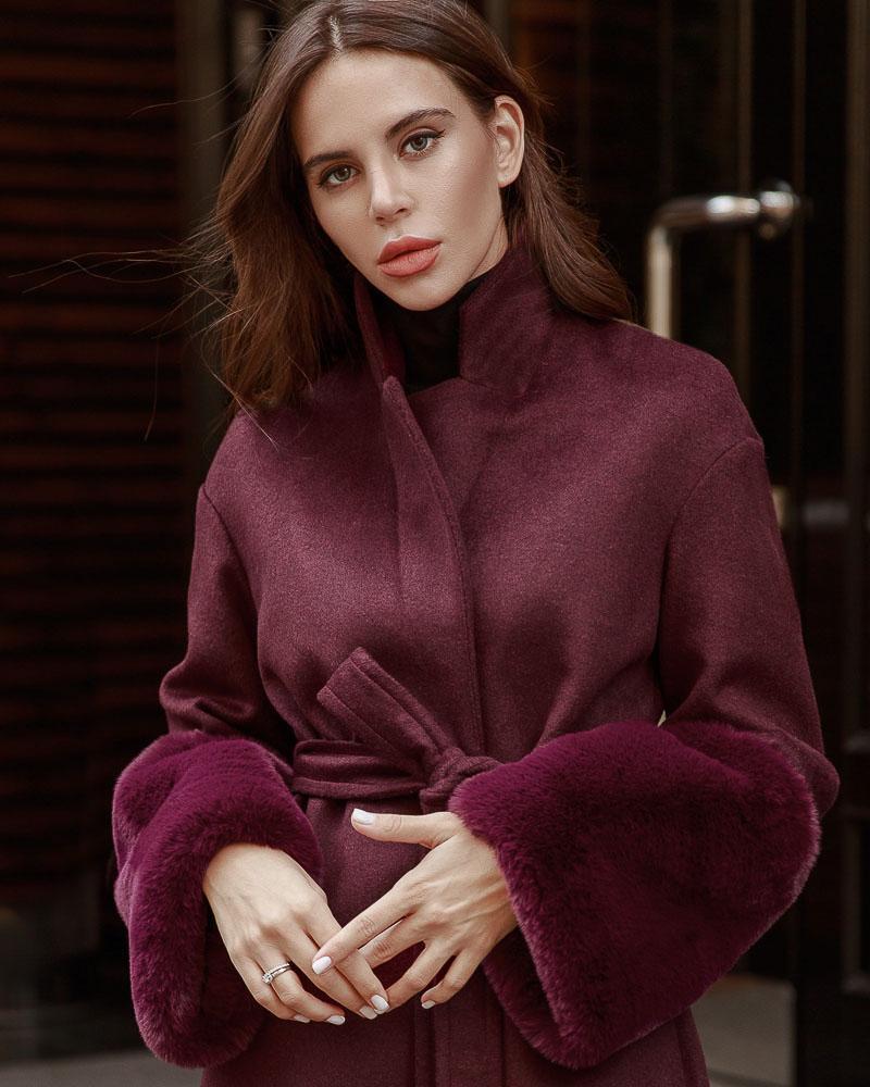 Купить Verhnyaya-odezhda_palto, Шерстяное пальто с мехом, Gepur