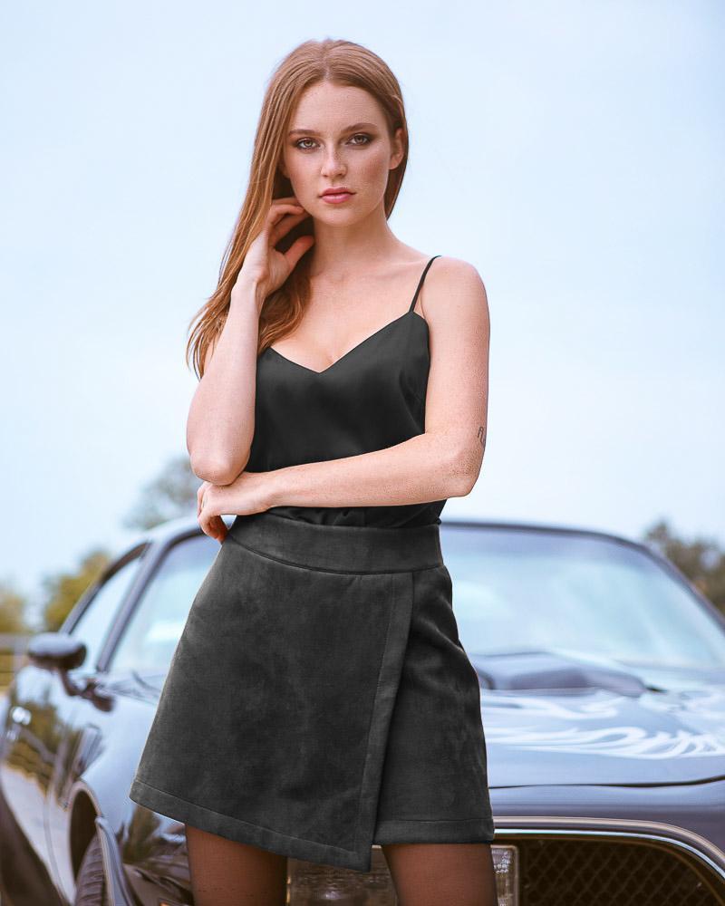 Стильные шорты-юбка