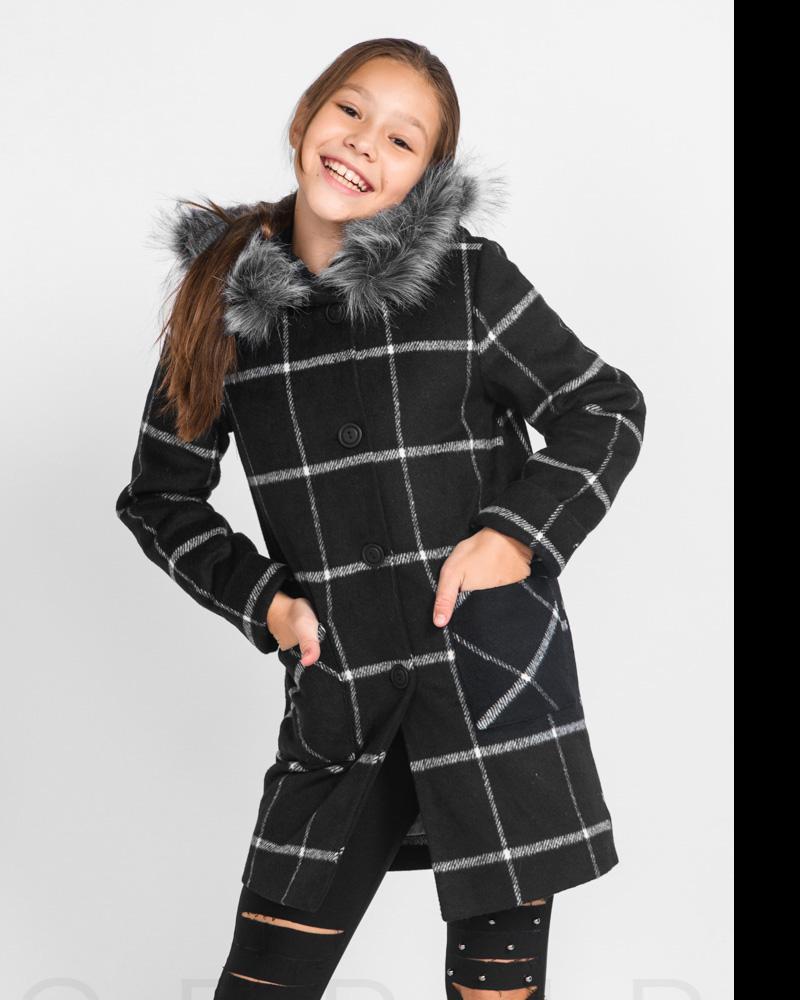 Шерстяное детское пальто фото