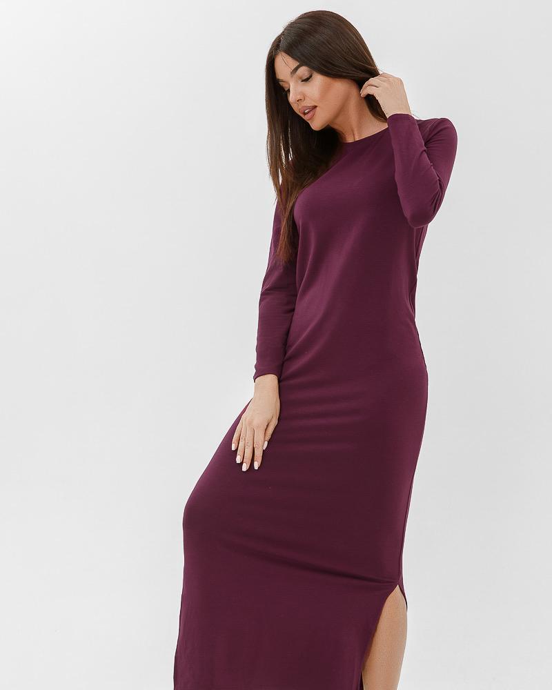 Теплое платье-макси фото