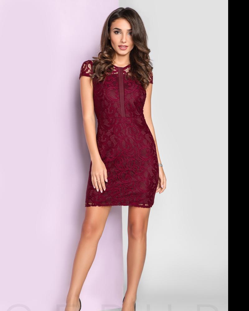 Вечернее платье из гипюра фото
