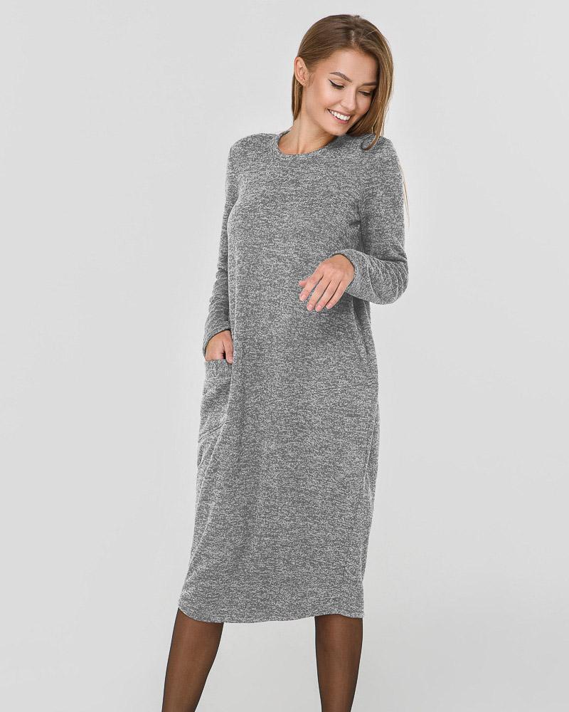 Теплое платье oversize