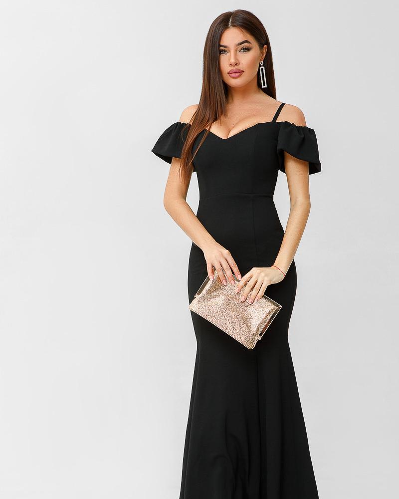 Купить Platya_vechernie-platya, Вечернее платье с открытыми плечами, Gepur