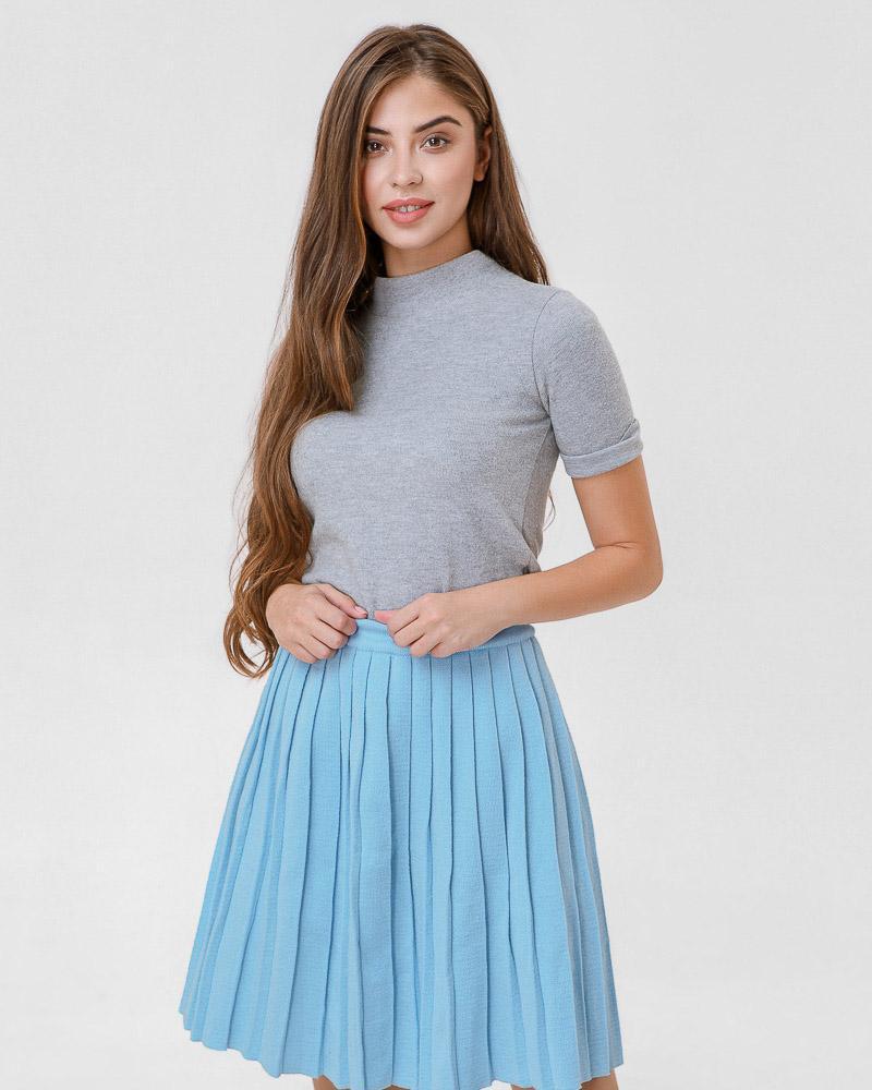 Вязаная юбка-клеш