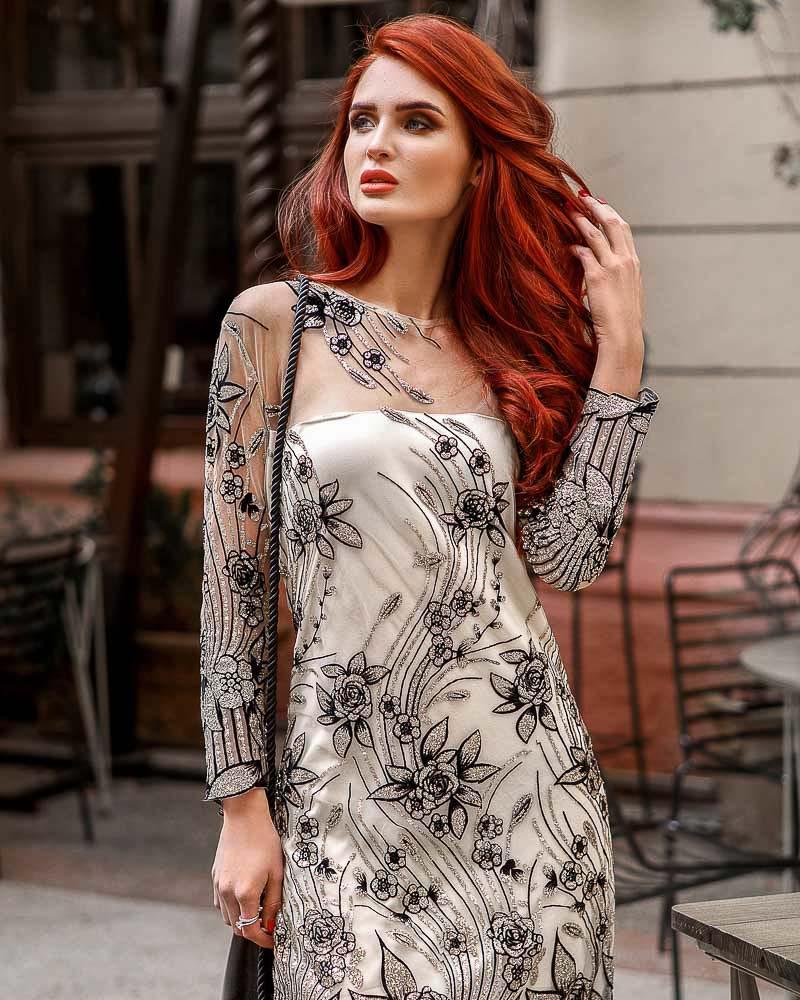 Вечернее платье-сетка фото