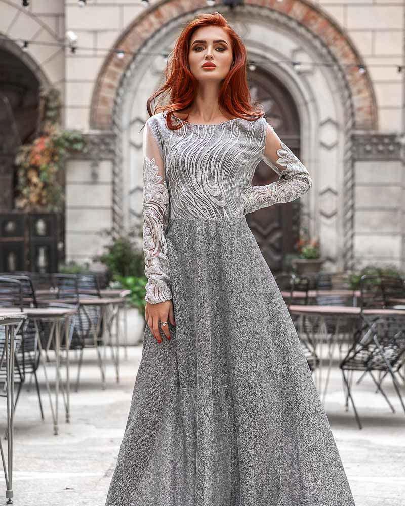 Вечернее платье с люрексом фото