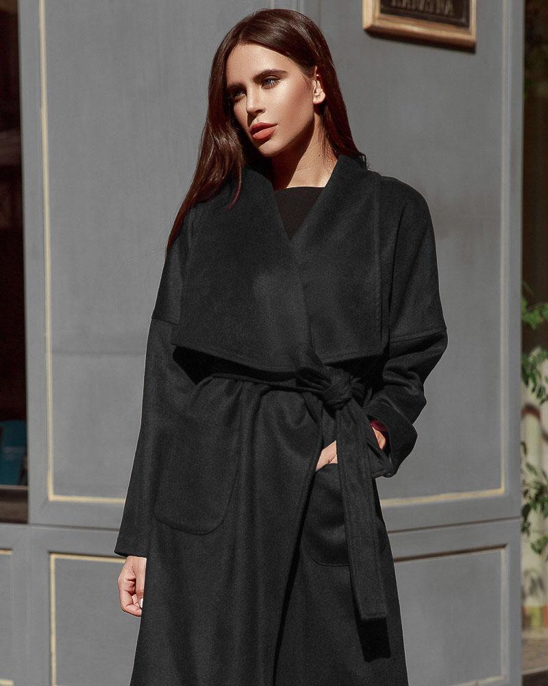 Фото - Стильное пальто на запáх