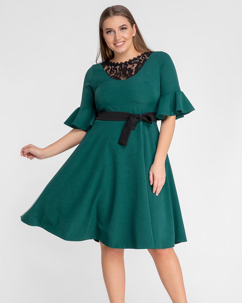 Платье с рукавами-воланами фото
