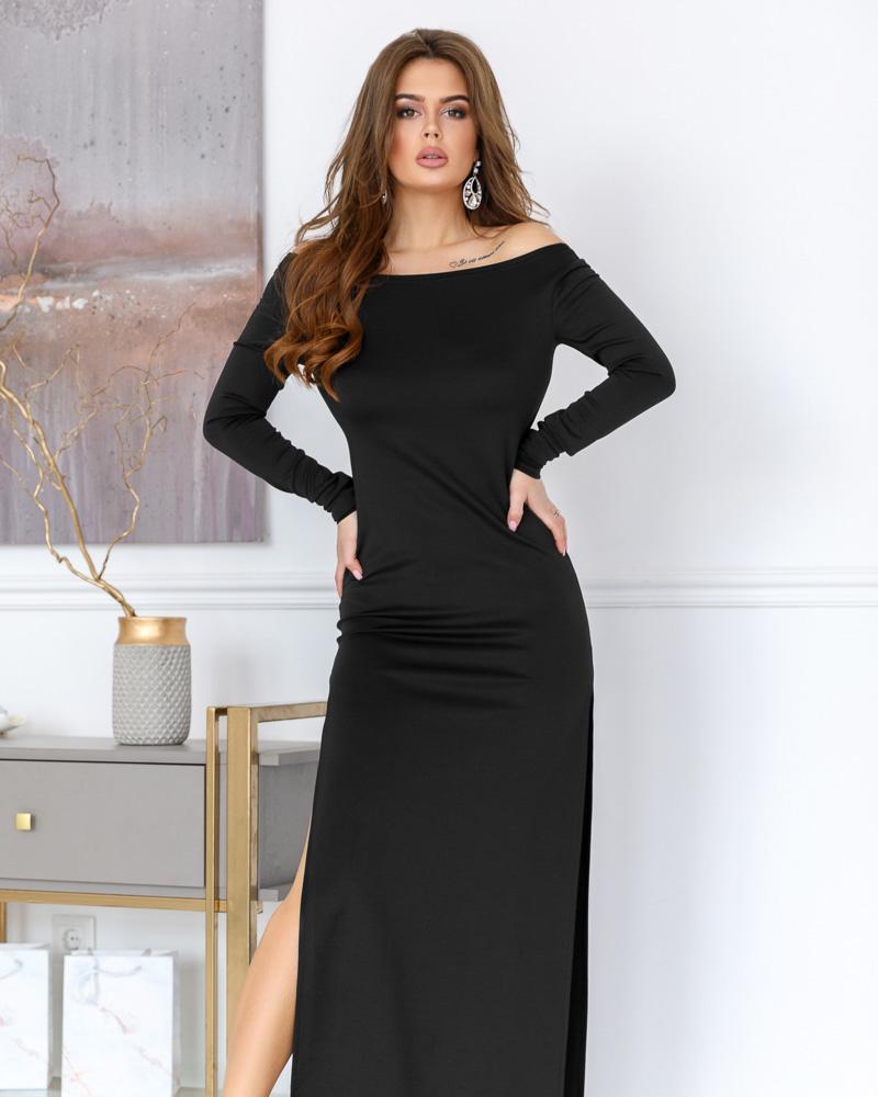 Длинное платье с разрезом фото