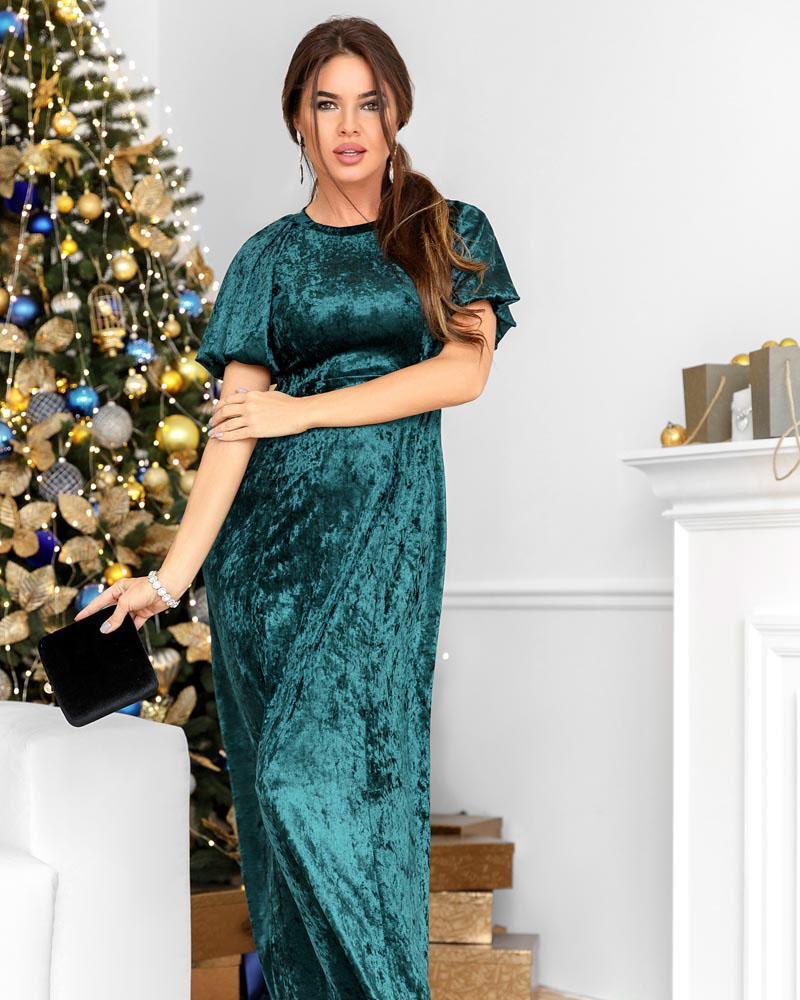 Классическое платье-макси фото