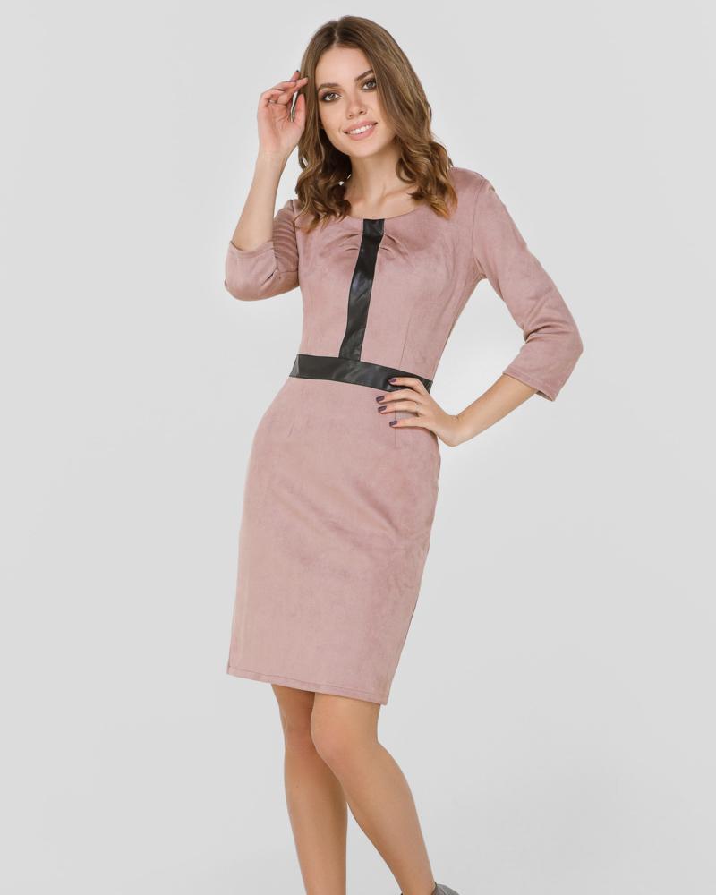 Облегающее замшевое платье фото