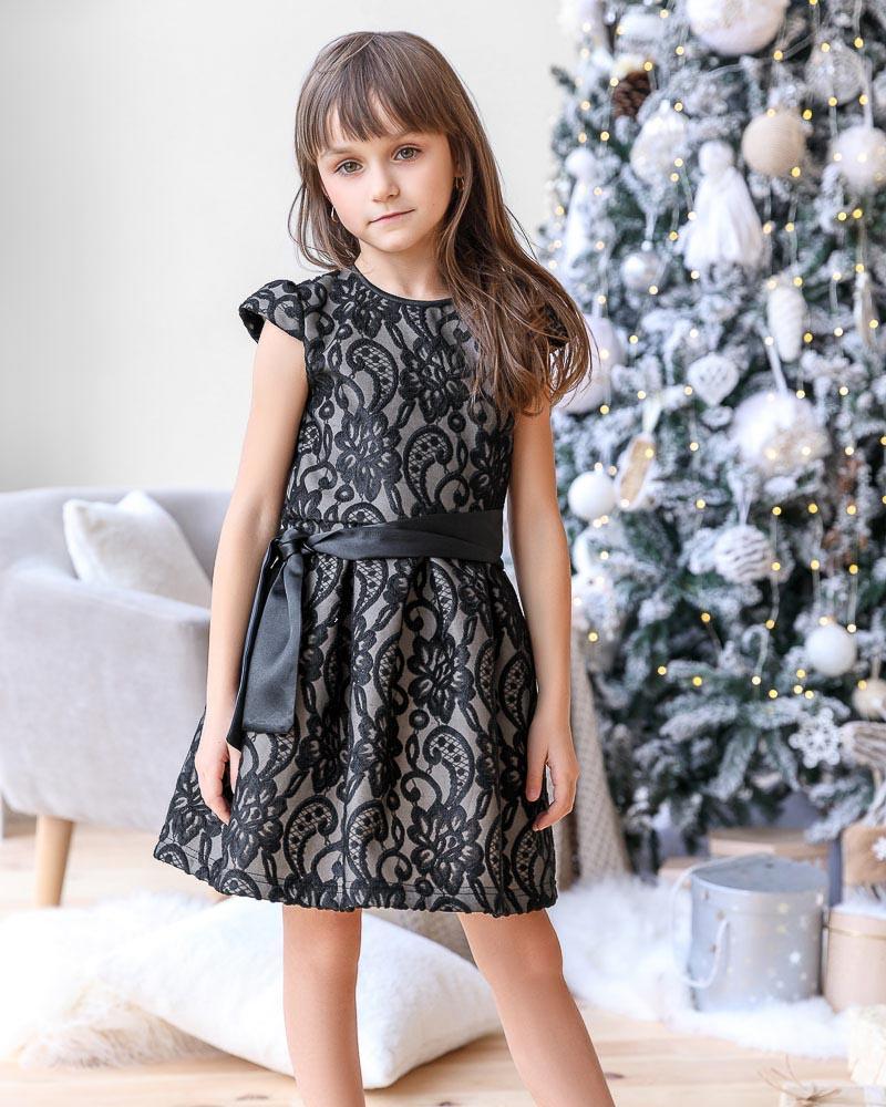 Платье с рукавами-крылышками фото