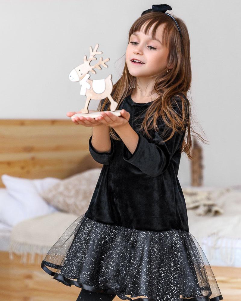 Детское бархатное платье фото