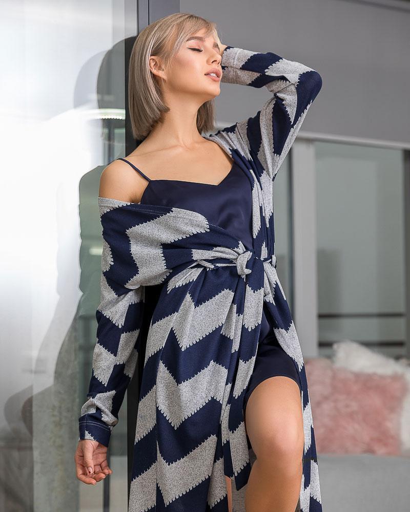 Купить Odezhda-dlya-doma_halaty, Трикотажный халат с рисунком, Gepur