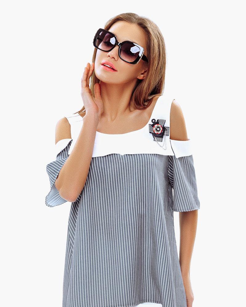 Блуза-oversize в смужку от Gepur