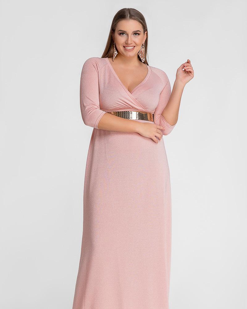Купить Platya_platya-bolshih-razmerov, Вечернее платье с люрексом, Gepur