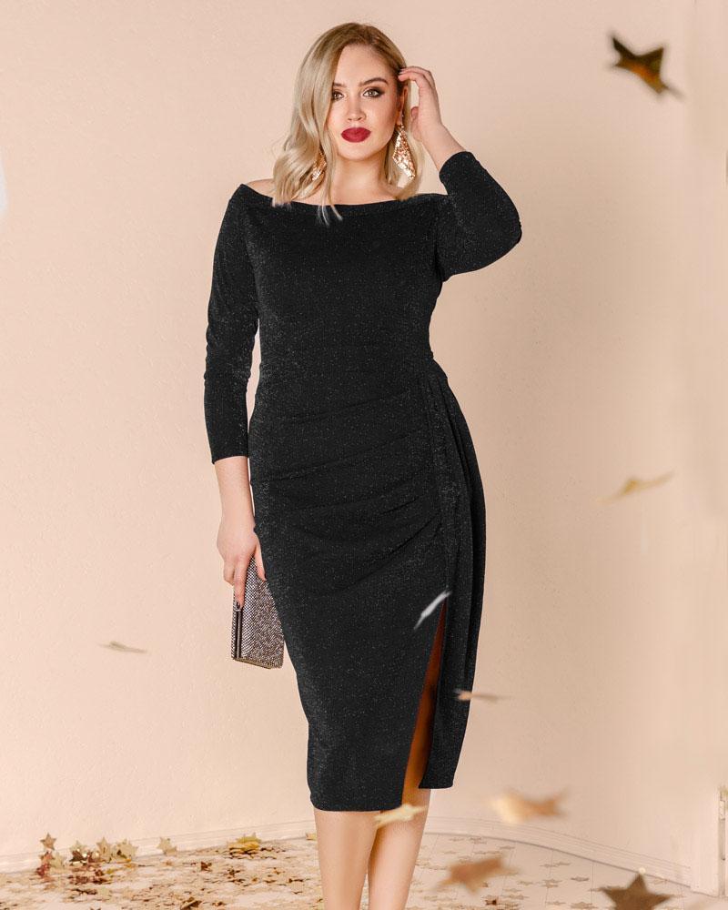 Платье с драпировкой фото