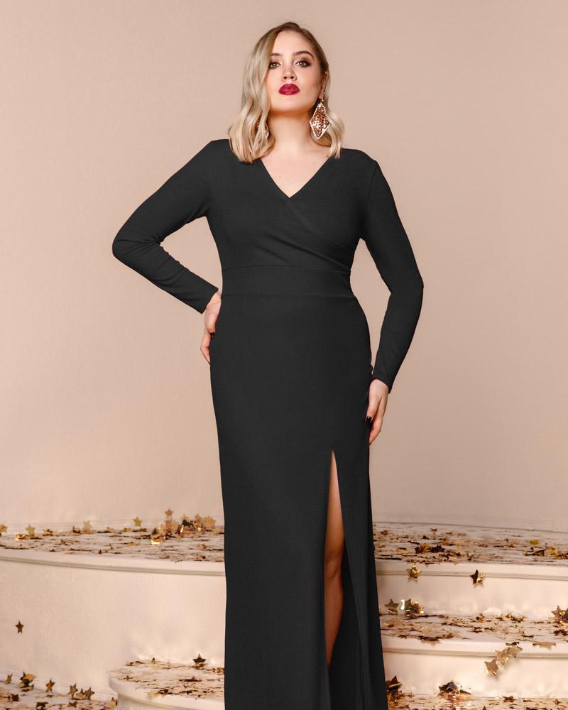 Купить Platya_platya-bolshih-razmerov, Стильное платье с разрезом, Gepur