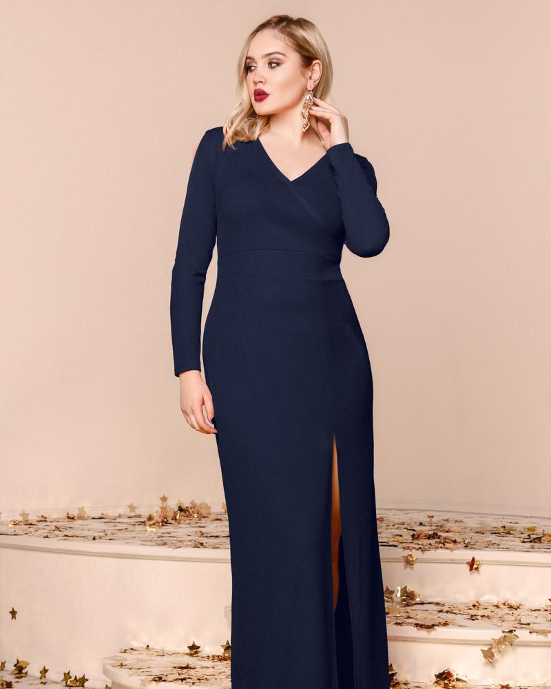 Купить Platya_platya-bolshih-razmerov, Эффектное платье-макси, Gepur
