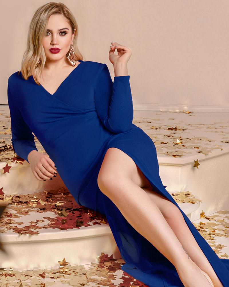 Купить Platya_platya-bolshih-razmerov, Трендовое платье с разрезом, Gepur