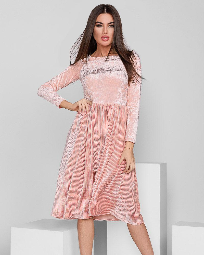 Бархатное платье-миди
