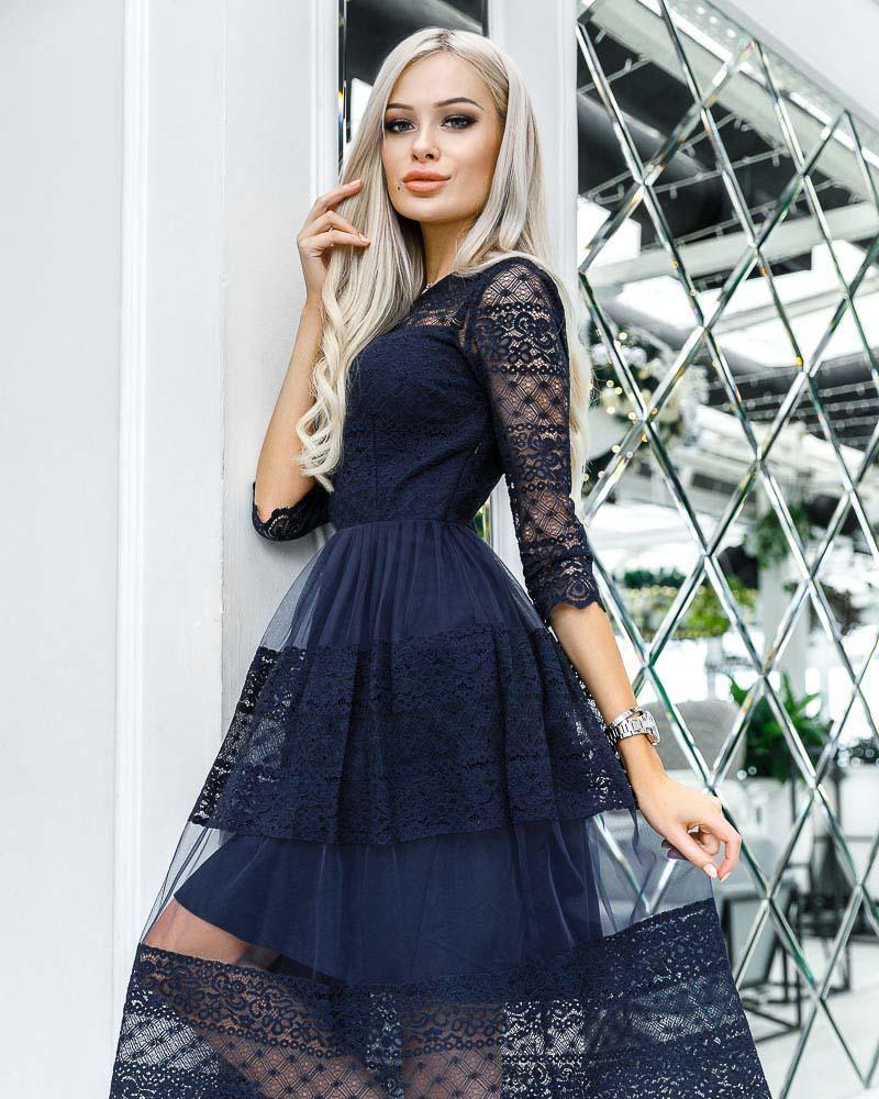 Оригинальное вечернее платье фото