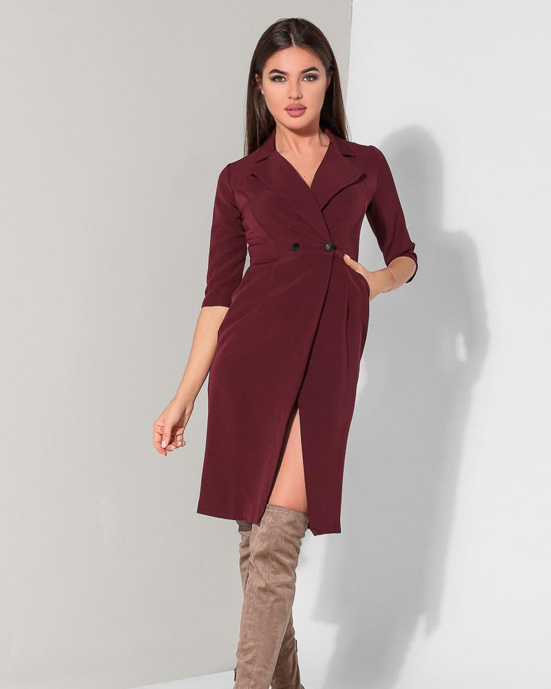 Двубортное платье-миди фото