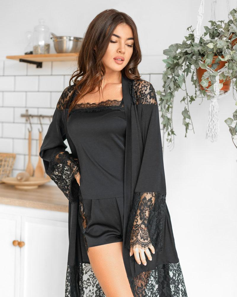 Купить Odezhda-dlya-doma_halaty, Длинный шелковый халат, Gepur