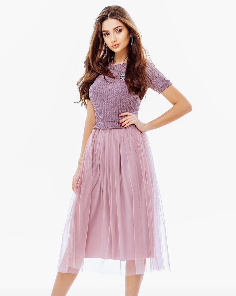 Легкое трикотажное платье фото