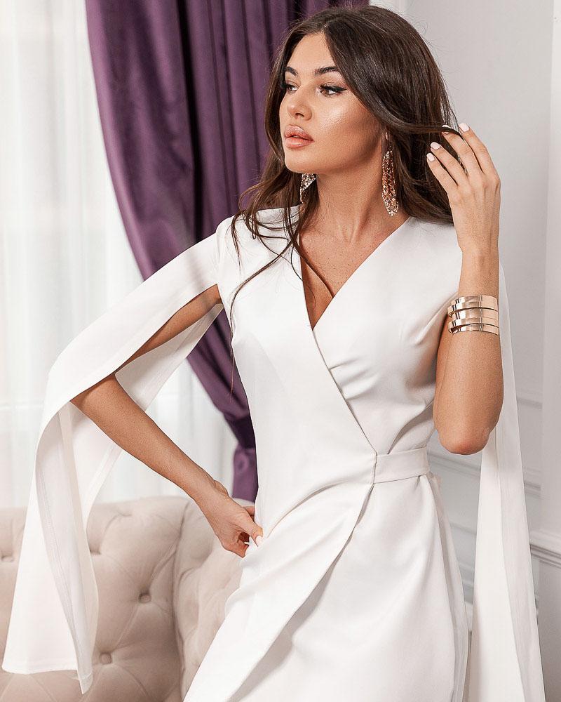 Трендовое платье-кейп фото