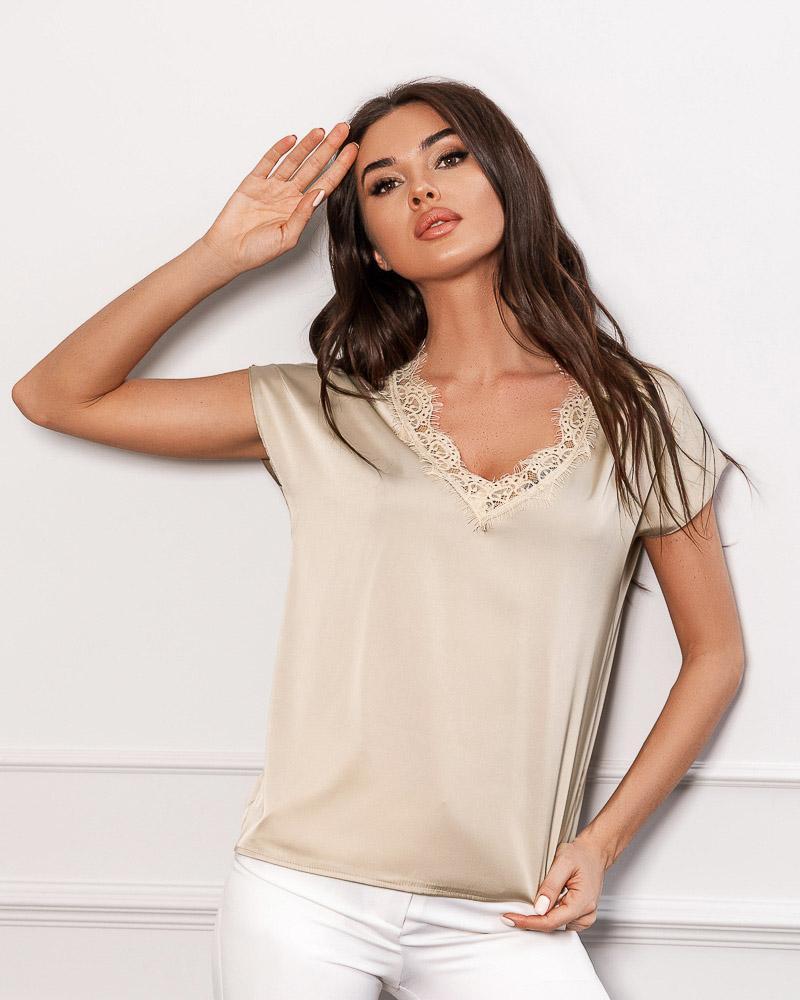 Женская шелковая блуза фото